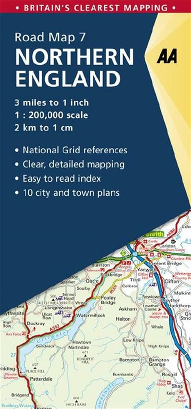 AA Road Map Britain 7: Northern England
