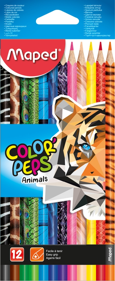 FARVEBLYANT MAPED COLORPEPS ANIMALS 12