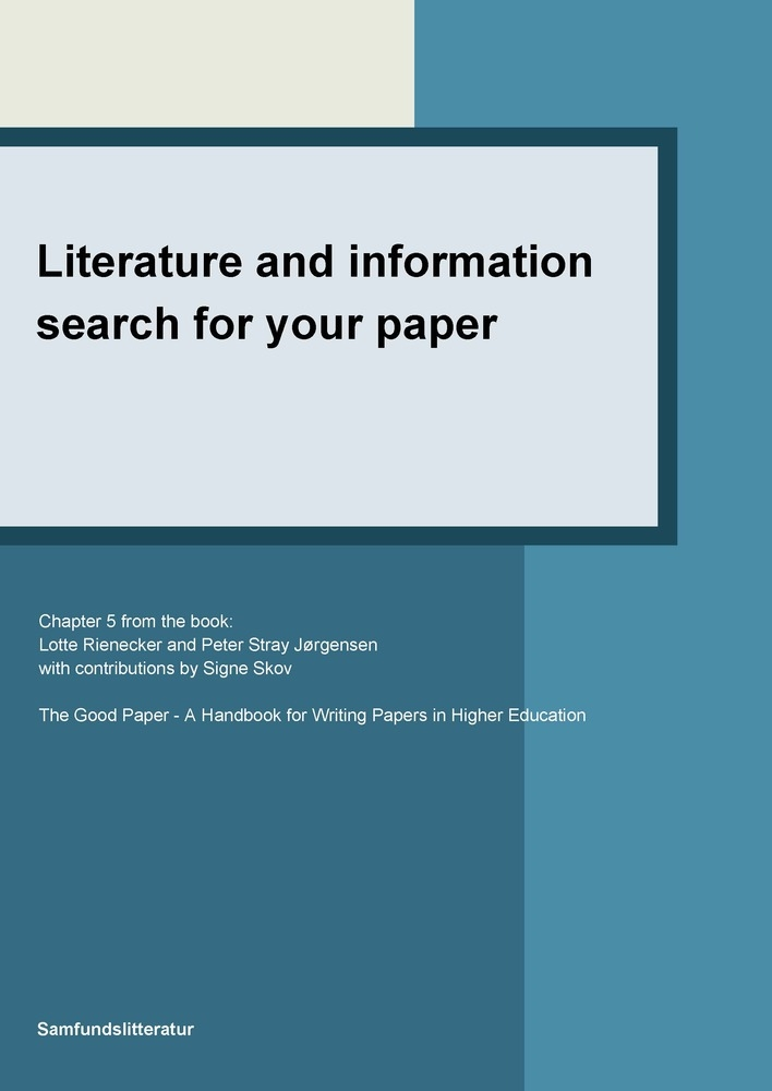 Literature and information search for your paper