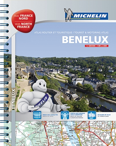 Michelin Tourist & Motoring Atlas Benelux & North of France