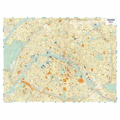 Paris - Michelin rolled & tubed wall map